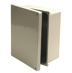 E-BOX,NJHSC14126,NON-METALLIC HINGED SCREW COVER TYPE 4X